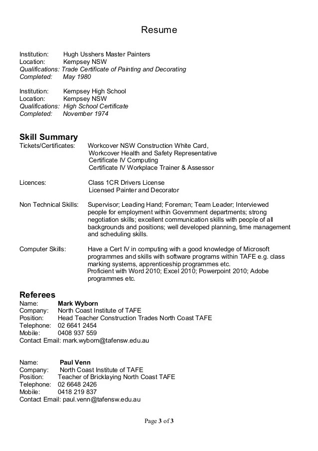 painters resumes - Vatozatozdevelopment - Painter Resume