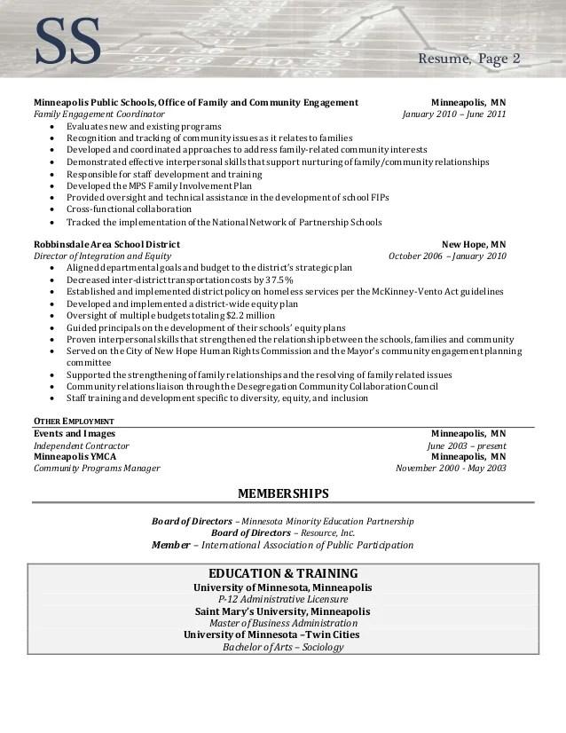 Executive Resume Examples Resume Writing Resume Resume Sample Director Of Community Involvement