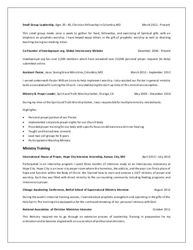 ministry resume - Alannoscrapleftbehind - pastoral resume