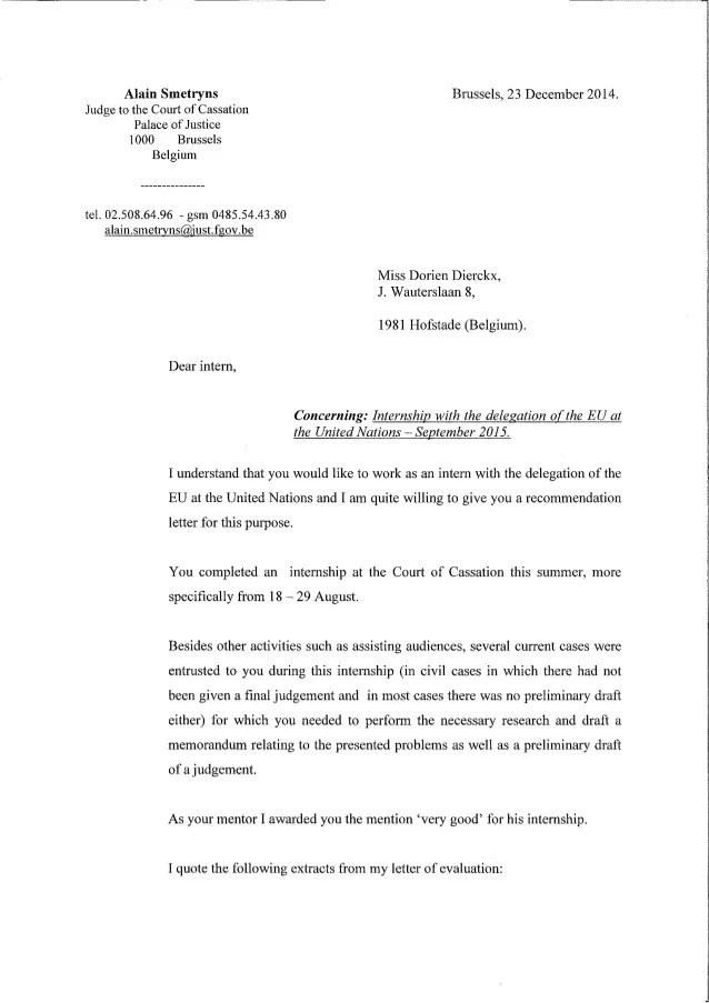 letter of recommendation to judge