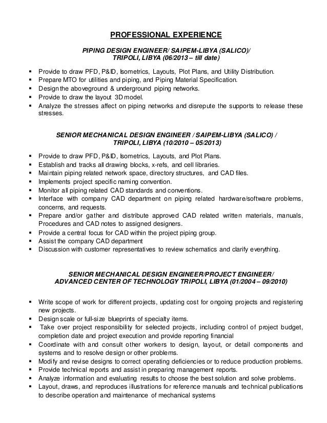 mechanical design engineer resume - Alannoscrapleftbehind