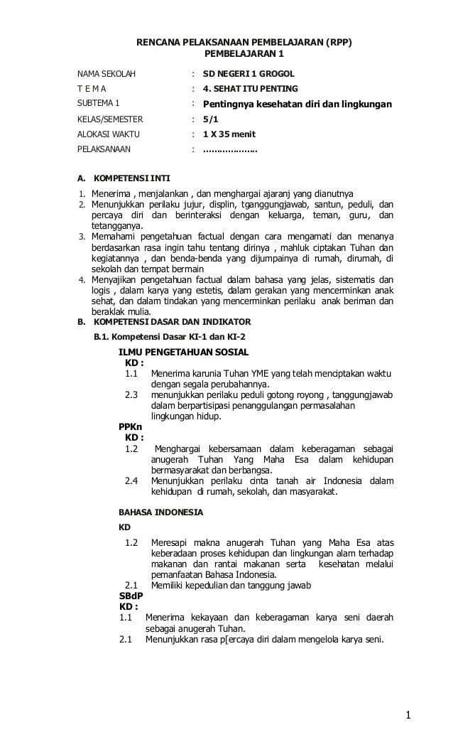 Rpp Sd Kelas 2 Unduh Rpp Sd Kelas 12345 Dan 6 Super Lengkap Info Contoh Rpp Kelas 5 Kurikulum 2013