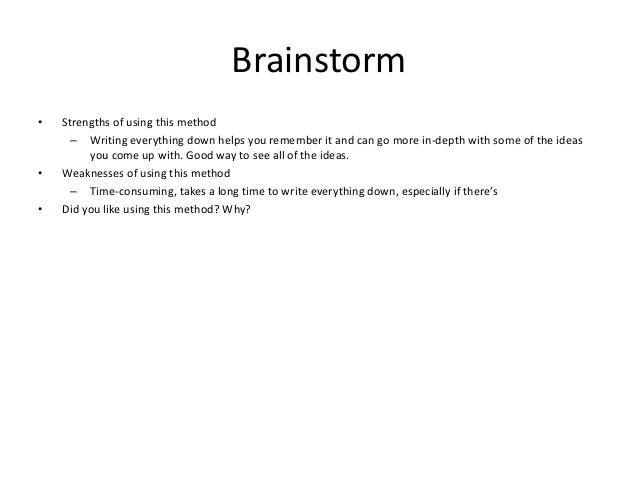 brainstorm format - Apmayssconstruction