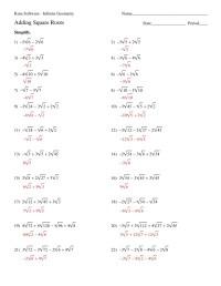 Printables. Simplifying Square Roots Worksheet ...