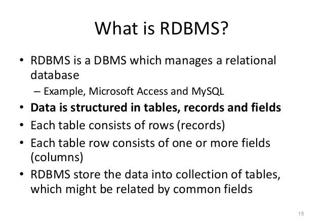 rdbms definition - Roho4senses