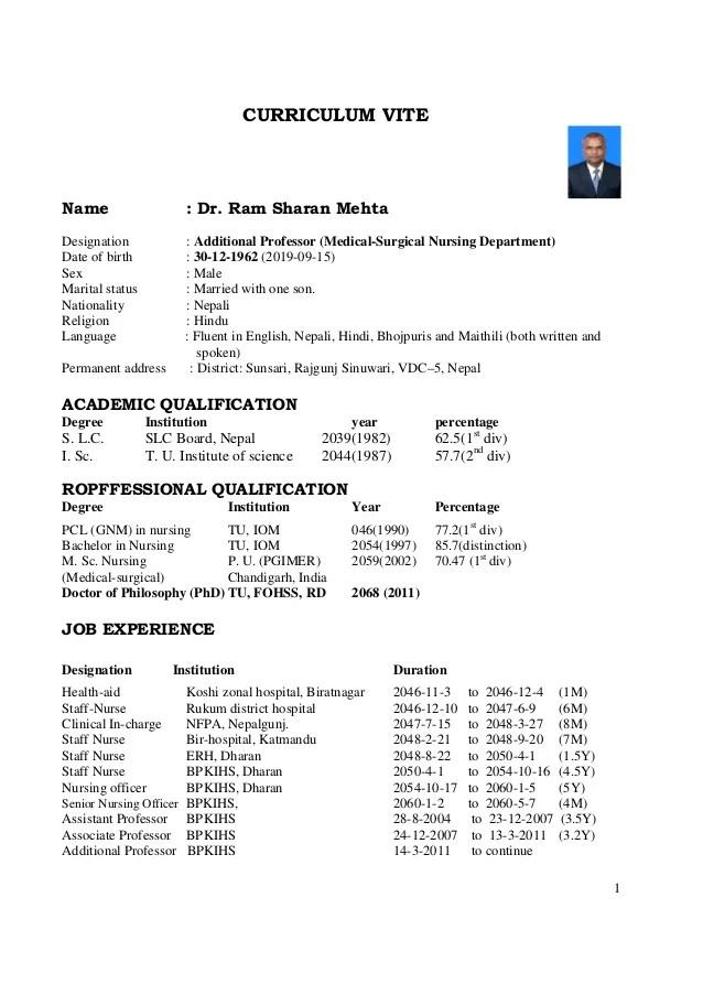 sle resume mbbs