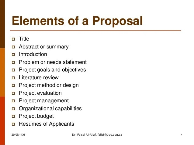 Introduction To Research Proposal Eku How To Write Successful Proposal By Dr Faisal Al Allaf