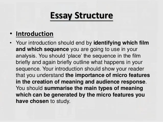 Writing Your Micro Essay