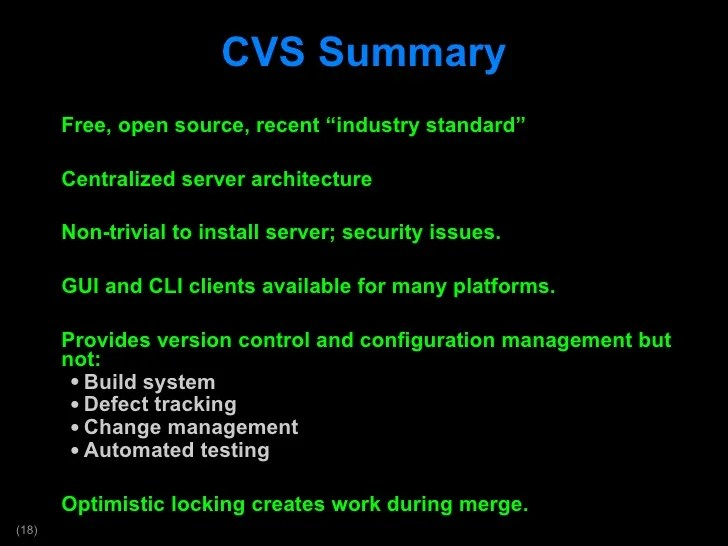 cvs configuration management