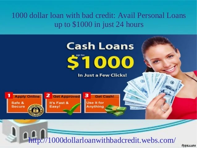 1000 dollar loan for bad credit: Get up to $1000 instantly