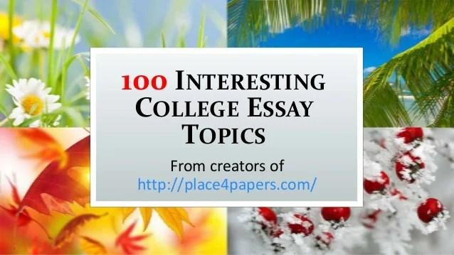 essay topics write