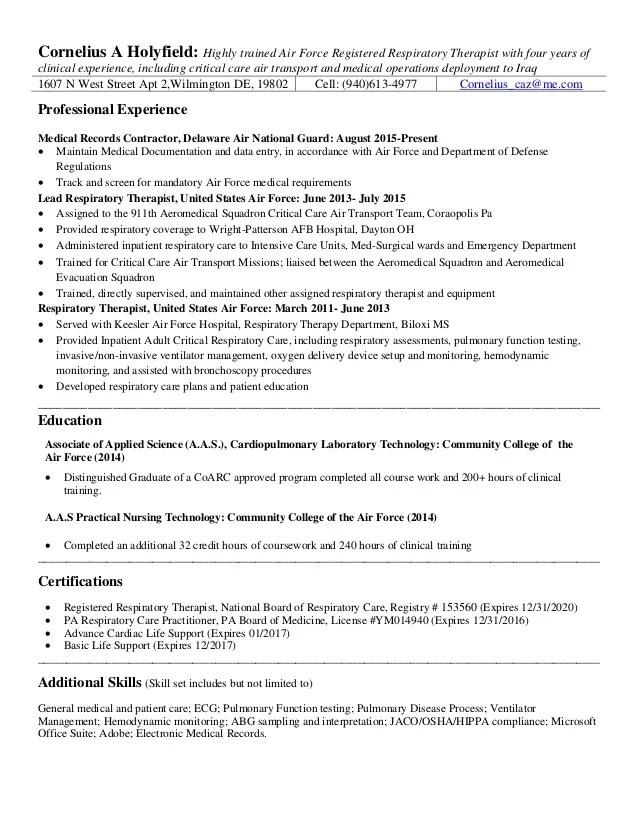 respiratory therapy resume - Onwebioinnovate - respiratory therapist resume samples