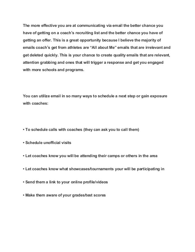 Cover Letter Examples By Industry Monster 10 Helpful Articles When Writing Emails To College Coaches