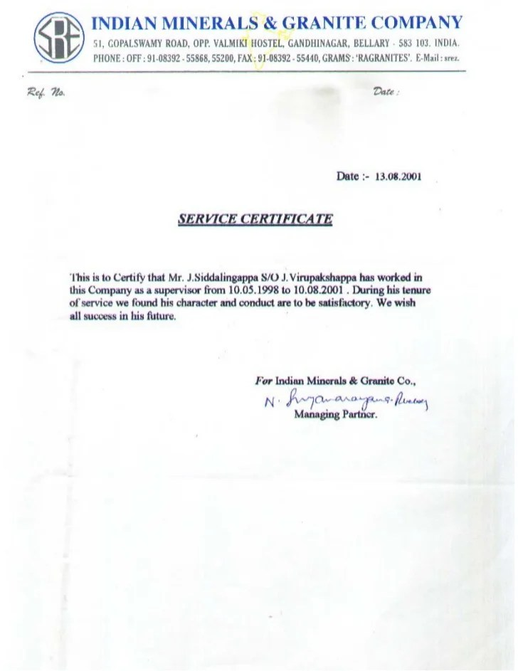 experience format certificate - Onwebioinnovate - experience certificate formats