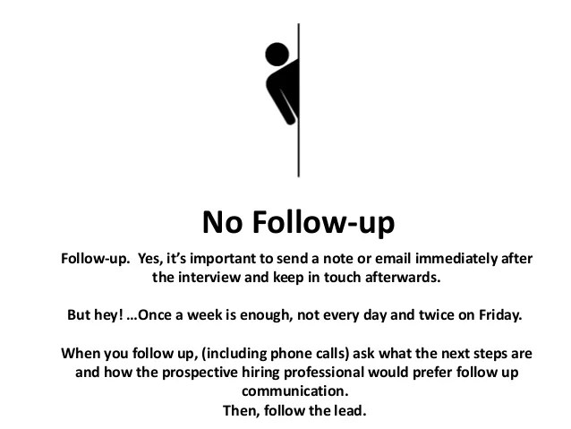 how to send a follow up email after an interview