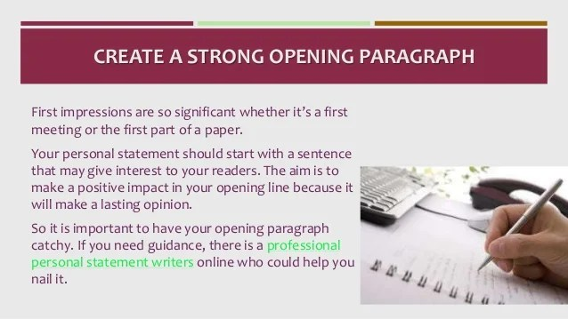 cv personal statement opening lines