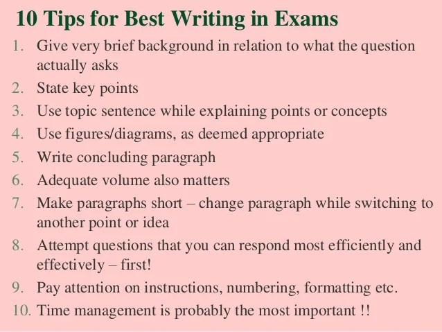 Tips for writing an essay