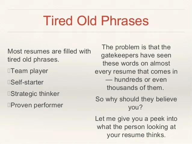 resume starter words