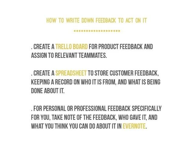 HOW TO WRITE DOWN FEEDBACK