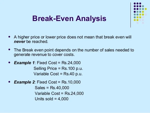 Sample Breakeven Analysis Retail Break Even Analysis Furniture - Breakeven Analysis