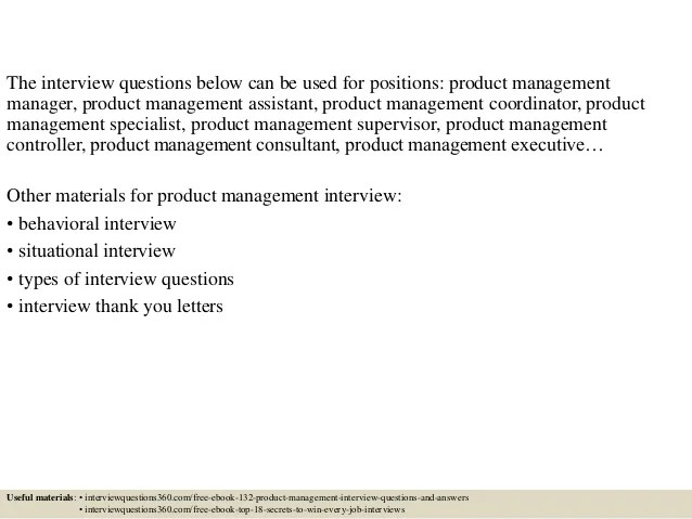 product manager interview questions and answers - Maggilocustdesign - Restaurant Interview Questions
