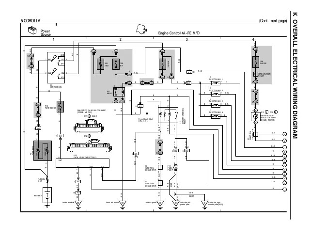 toyota corolla 1996 wiring diagram overall