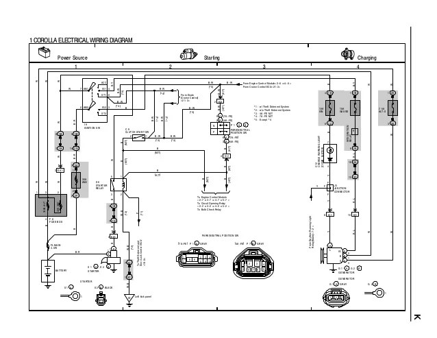 electrical diagram for corolla ae90