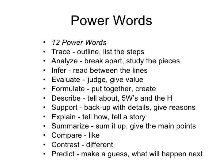 power words - Alannoscrapleftbehind - resume power words list