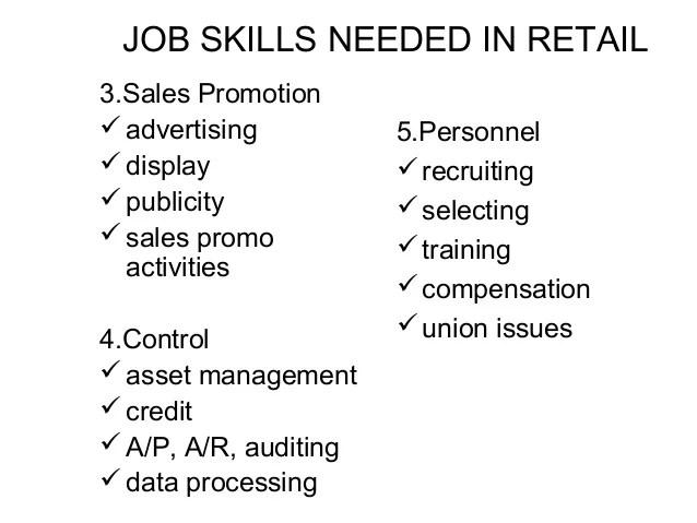 retail job skills - Onwebioinnovate - retail skill