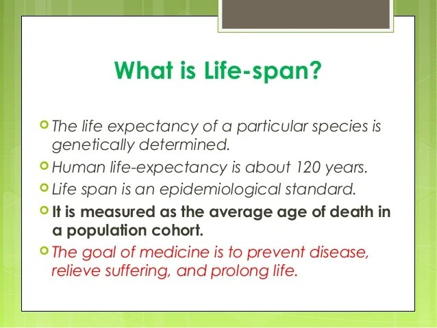 Nutrition And Life Span