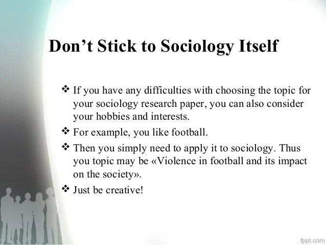essay topics for sociology