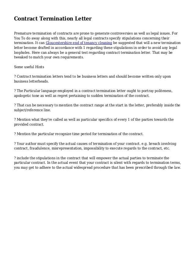 Termination Letter Template Australia Job Termination