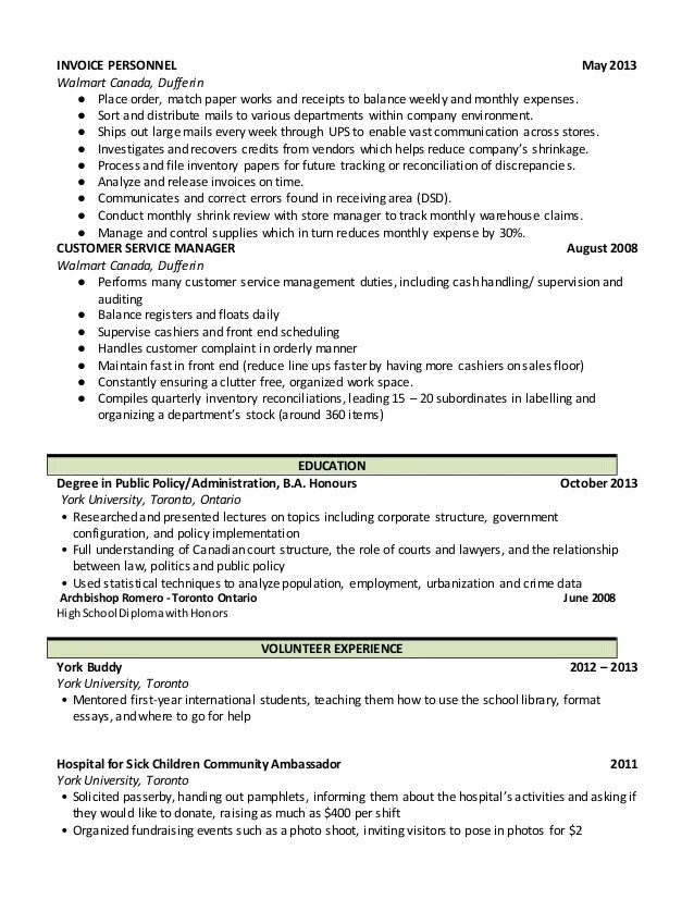 walmart department manager resume - Alannoscrapleftbehind