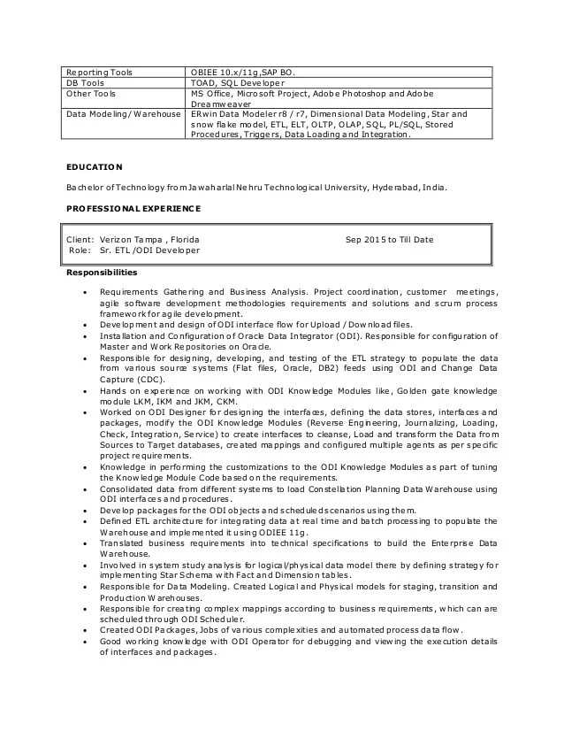 data modeling resume - Onwebioinnovate