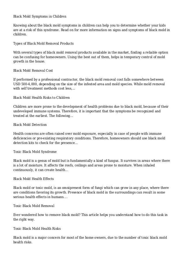 Black Mold | Buzzle.Com