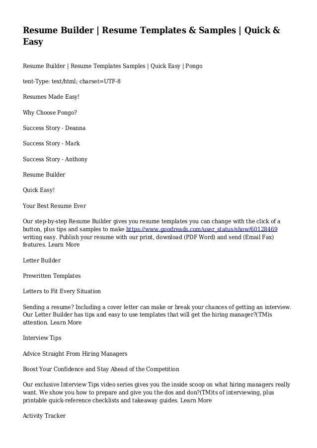 make a quick resume radiovkm