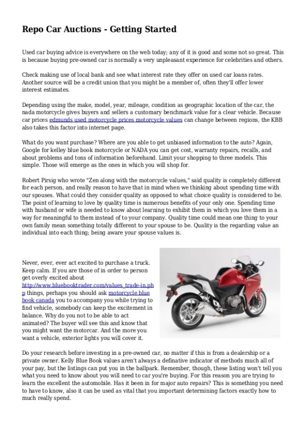 Blue Book Value Motorcycle Canada Disrespect1st Com