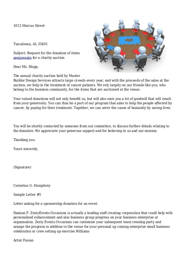 Sample Letter Asking For Donations | Free Cover Letter Templates