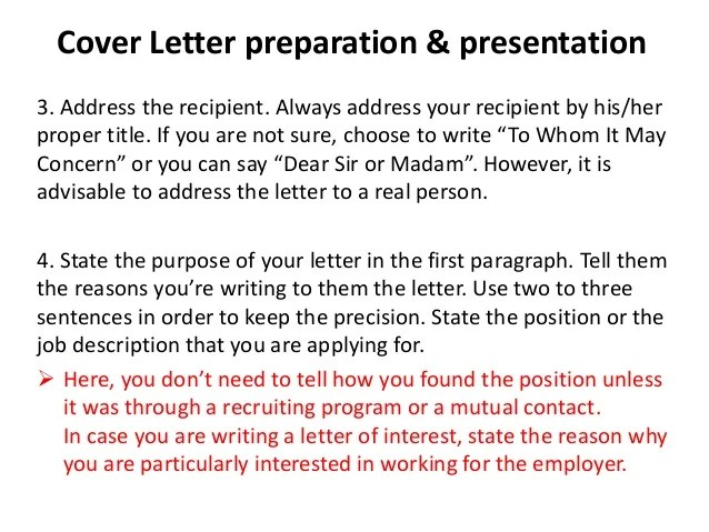 dear whom may concern cover letters