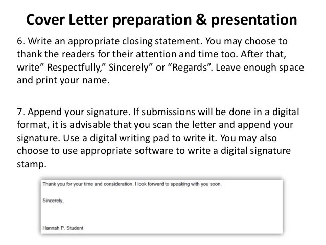 closing statement for resume cover letter