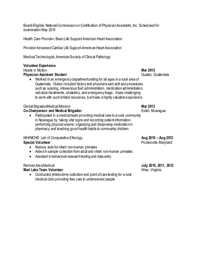 resume for advanced medical support assistant