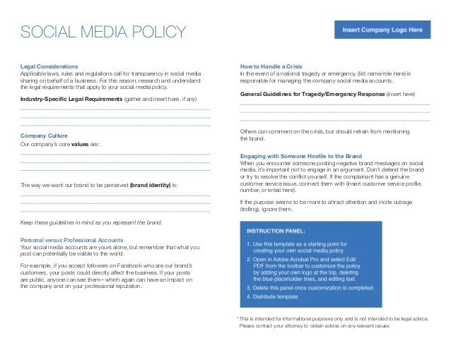 linkedin elevate social media policy template saveenlarge