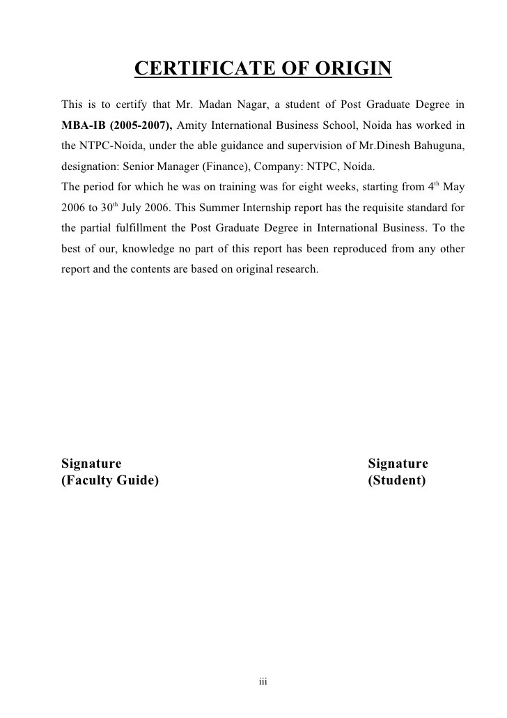 Business Letter Format Contract Procurement Management Report Of Ntpc