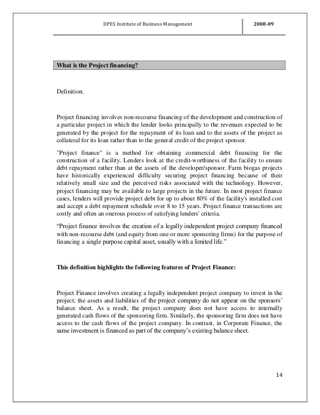 19211378 project-report-on-project-financing-