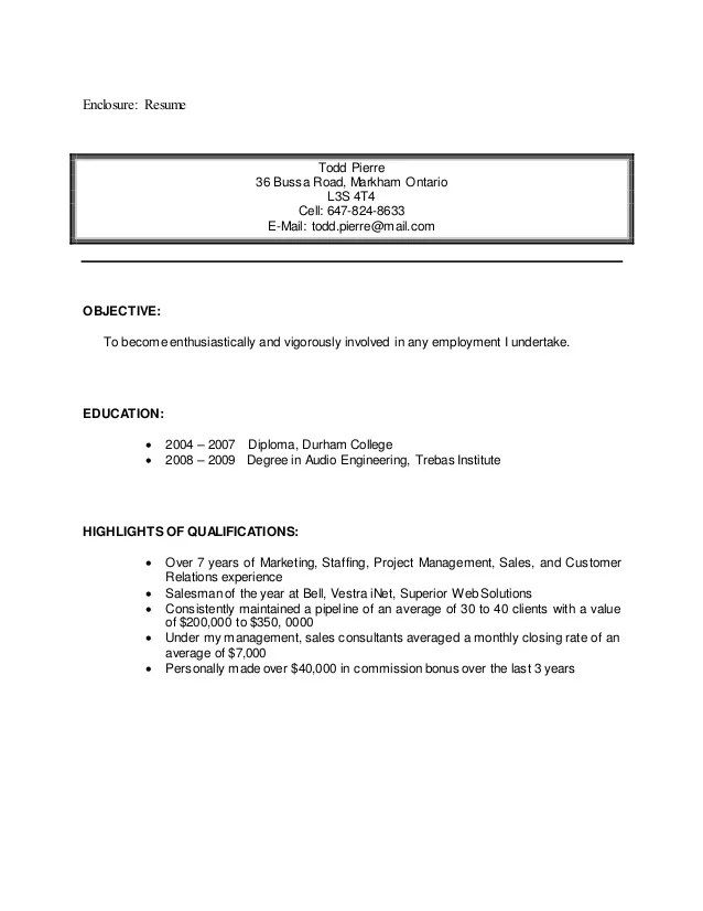 enclosure on cover letter - Apmayssconstruction