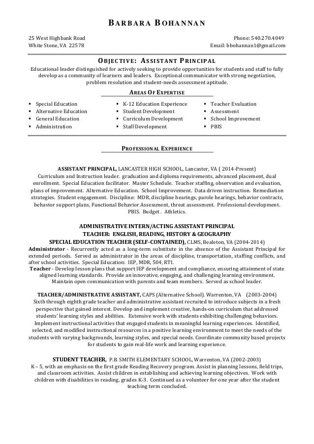 School Principal Resume kicksneakers - principal resumes
