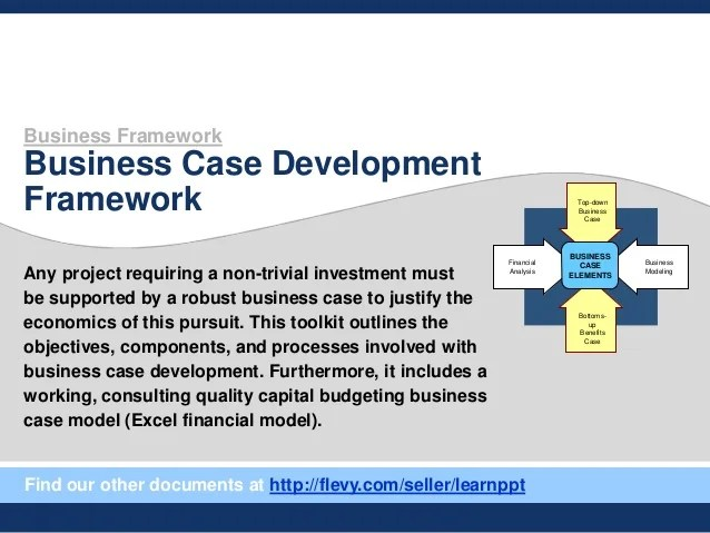Business Case Sample Template Vosvetenet – Business Case Templates Free
