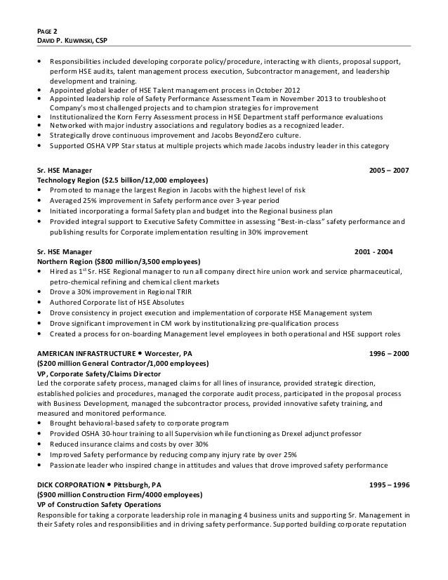 building contractor resume