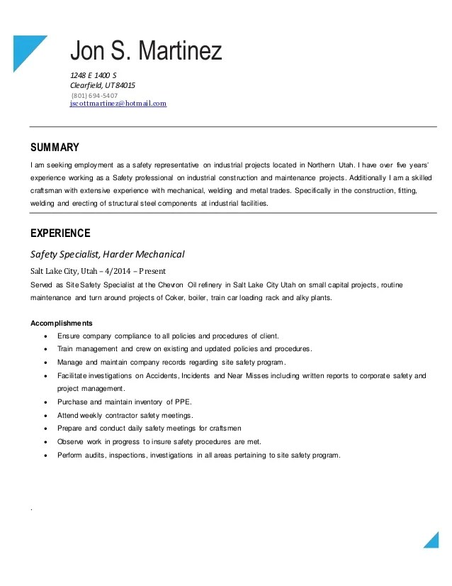 ironworker resume example