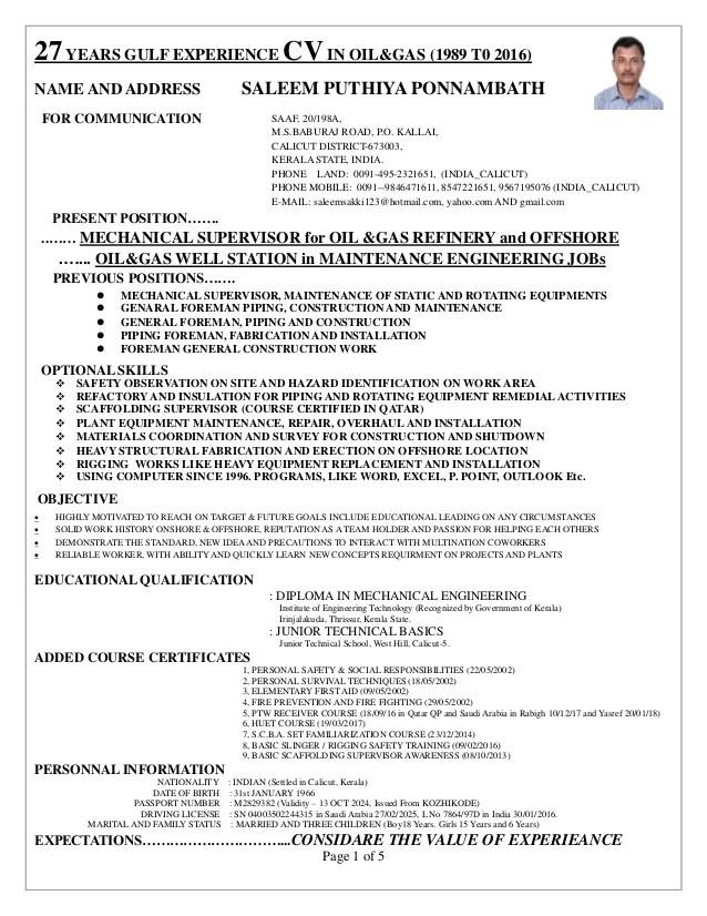 structural supervisor resume - Goalgoodwinmetals